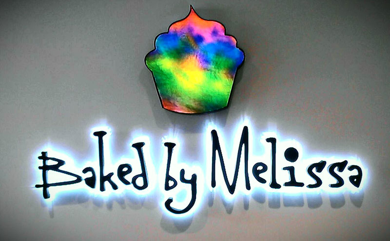 Baked by Melissa signs project