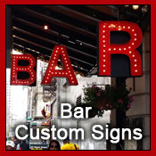 bar custom signs