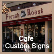 restaurant custom signs