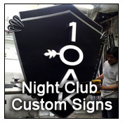 night club custom signs