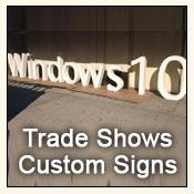 trade show custom signs