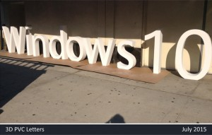 Windows 10 3D Letters