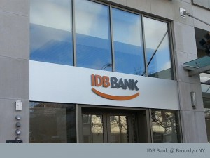IDB Bank 3D Letters