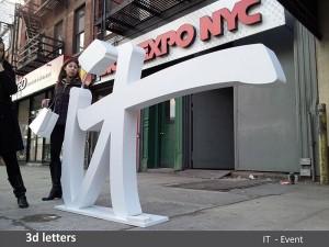 IT 3D Letters