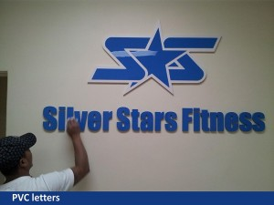 Silver Starts Fitness 3D Letters