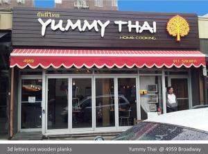 Yummy Tahi 3D Letters