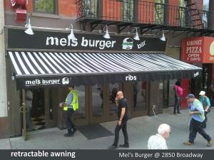 Mel's Burger Awning