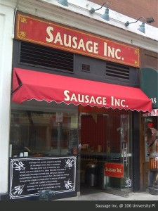 Sausage Inc Retro Sign