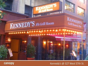 Kennedy's jfk Grill Room Canopy