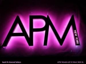 APM Models Channel Letters