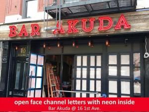 Bar Akuda Channel Letters