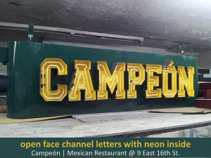 Campeon Channel Letters