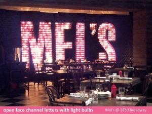 Mel's Channel Letters
