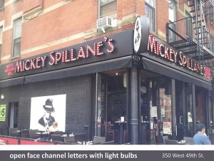 Mickey Spillane's Channel Letters