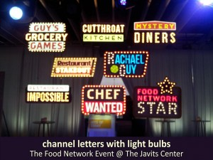 The Food Network Channel Letters