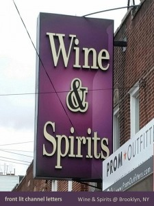 Wine & Spirit Channel Letters