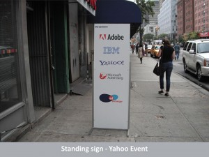 Yahoo Event Standing Sign