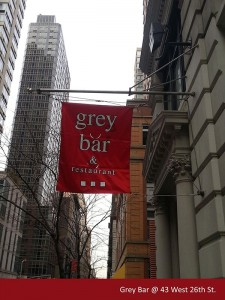 Grey Bar Restaurant Street Flag