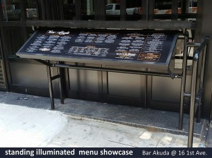 Akuda Bar Standing Illuminated Menu Showcase