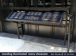 Akuda Bar Standing Illuminated Menu Showcase