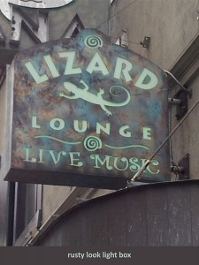 Lizard Lounge Light Box