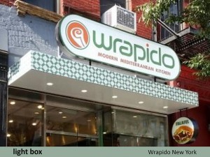 Wrapido Restaurant Light Box