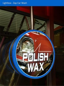 Zap Car Wash Light Box