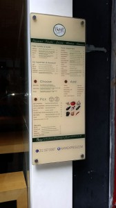 Naya Express Menu Board