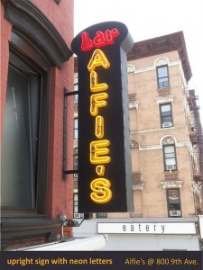 Alfie's Bar Neon sign