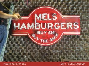 Mel's Hamburgers Neon Sign