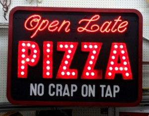 Open Taste Pizza Neon Sign
