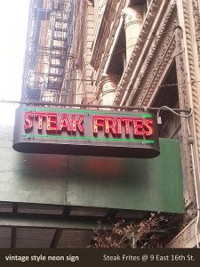 Steak Frites Neon Sign