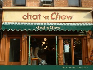 Chat n Chew Retro Sign