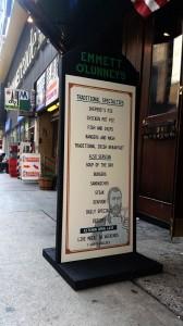 Emmett Olunney's Street Sign