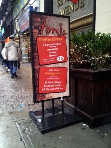 Tonic Street Sign
