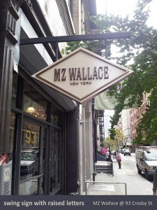 MZ Wallace Swing Sign