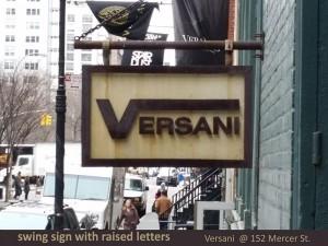 Versani Swing Sign