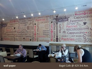 Bagel Cafe Wall Paper